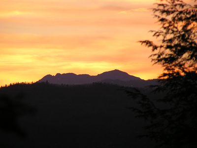 Sunset over Grandfather Mountain at Graywolf