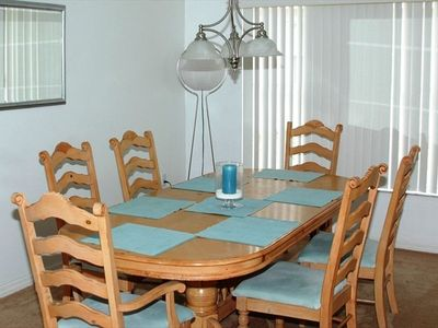 Eight-seater dining table
