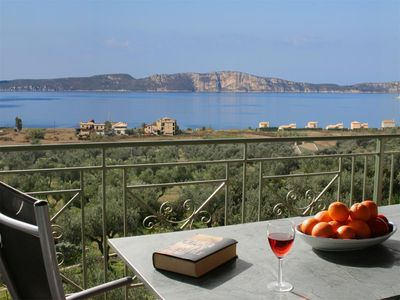 Pilos apartment rental - Arkady is set in it's own olive grove with stunning views from the balcony.
