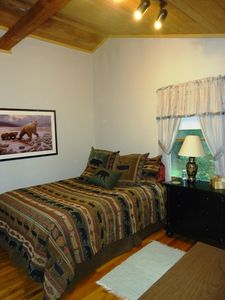 Logan Martin Lake cottage rental - Bedroom 2 has a queen size bed