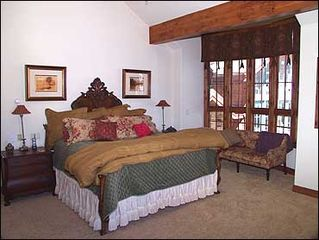Vail house photo - Large Master Suite with Fireplace
