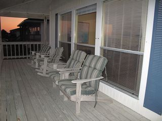 Rockport house photo - front porch seating