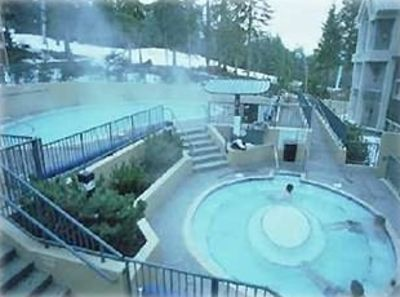 Hot Tub and Pool - notice run and lift adjacent to pool
