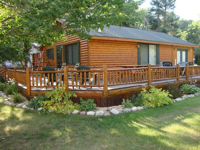 Lewiston cabin rental - Newly Renovated Log Cabin