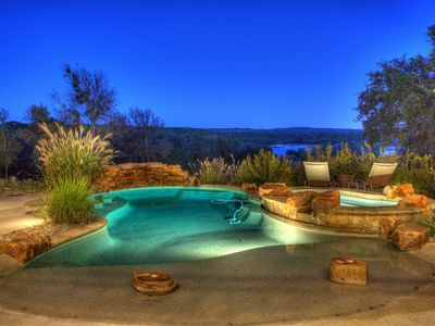 Pool and Spa with views of the lake