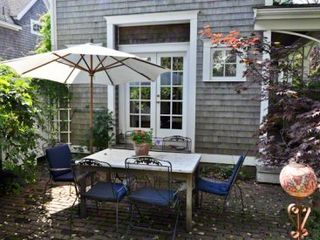 Edgartown house photo - The Brick Patio At Hydrange Cottage Nicely Expands Outdoor Dining