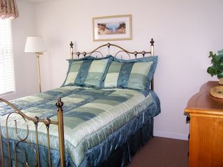 Wildwood townhome photo - Full size bed on first floor with TV/DVR and stall shower
