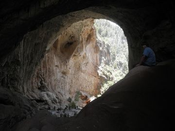 Tonto Natural Bridge. 12 miles north from Hwy 87 and Houston Mesa Road.