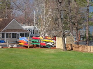 Ossipee Lake townhome photo - View to the left from the deck