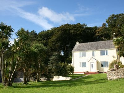 Llaneilian farmhouse rental - Tyddyn Mawr from the garden