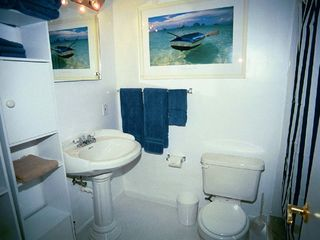 Pompano Beach apartment photo - Bathroom with large, step-in shower.