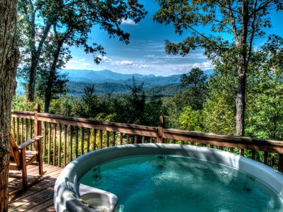 Relax in your hot tub and admire the view