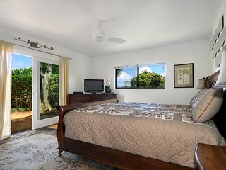 Poipu house photo - King bedroom on the first floor, walk to private patio