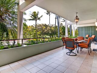 Kahala condo photo - Huge Lanai with Outside Dining Area and Lounge Chairs