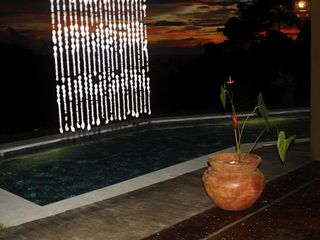 Mal Pais villa photo - evening view from terrace