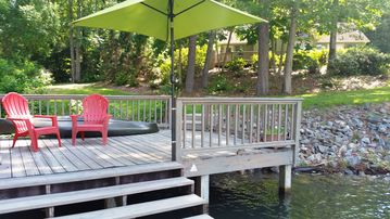 Lake Martin house rental - Peaceful deck and dock perfect for swimming, kayaking or just having coffee.