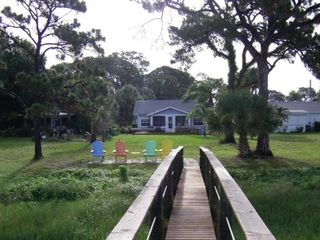 Englewood cottage photo - View from fishing pier of cottage