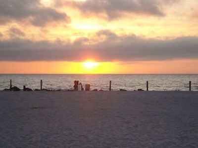 Sunset From Private Beach Access and Picnic Area