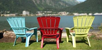 Juneau apartment rental - A relaxing day at the beach. Your chair awaits