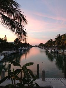 Beautiful painted sunset skies looking down the canal ~