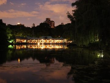 Restaurant in Central Park at night