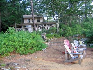 Low bush blueberries in front of camp - Alton house vacation rental photo