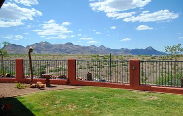 Tubac house rental - Tumacacori Mountains and Canyon view from back patio.