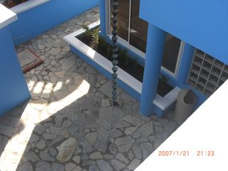 Rear Stone Courtyard - June 2012 - Cabarete villa vacation rental photo