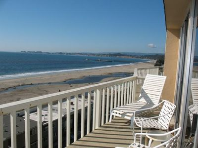 Shore Del Mar K Ocean Front Balcony off Living and Dining Room