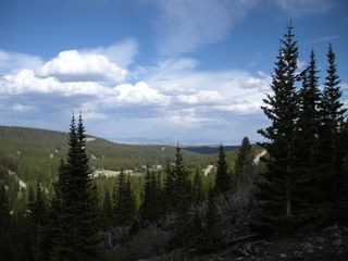Fairplay cabin photo - View while hiking up the mountain from the cabin. Just gorgeous.