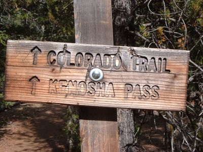 Colorado Trail (and hundreds of hiking trails) abound nearby.