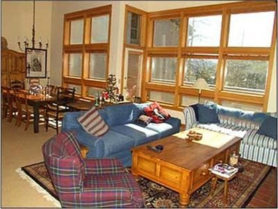Relax in the large Great Room - with high ceilings and view