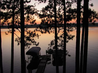 Beautiful sunsets across the lake. Perfect to watch by campfire or on the deck.