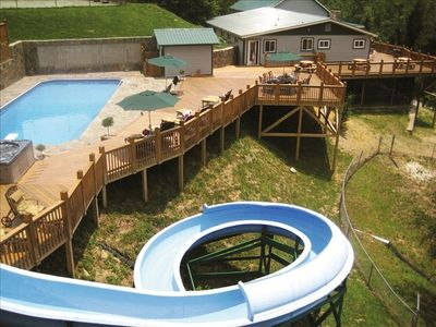 THE CAMP... Your private vacation retreat! Professional Waterslide (heated).