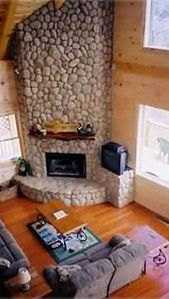 """20 Ft. River Rock Gas Fireplace"""