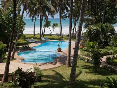 Right on the beach in Diani beautiful home best for this A location