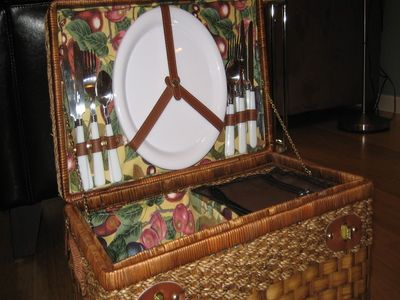 We provide a picnic basket, so you can picnic in the park or at the beach