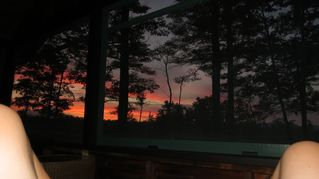 Kezar Lake cottage photo - Sun Set from the Screen Porch