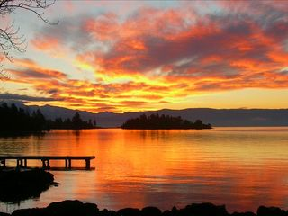 Somers house photo - Sunrise from our hot tub - Flathead Lake
