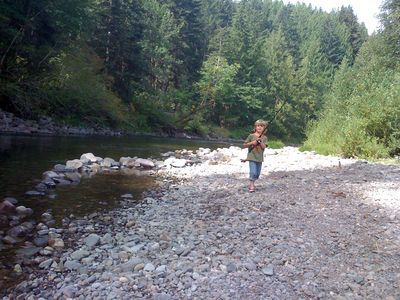 Welches house rental - Private Beach on Salmon River