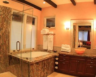 Master Bathroom- Shower and Soaking Tub