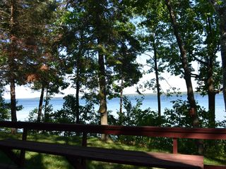 Cheboygan house photo - View of Mullet Lake from front deck.