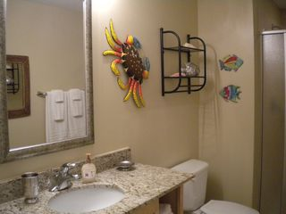Splash Resort condo photo - Decorated with children in mind! Glow in the dark fish on the wall!