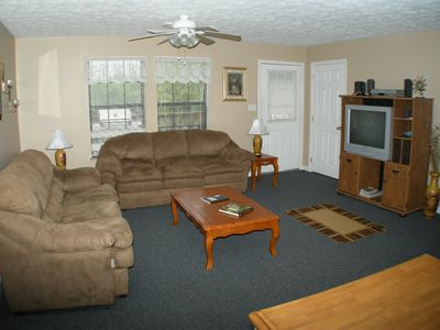 Monticello house rental - upper living room