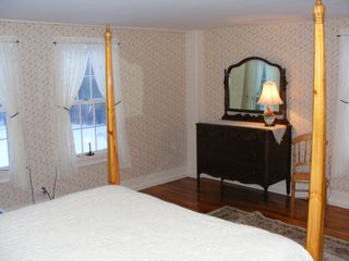 Alton farmhouse photo - The Orchard room offers a queen size bed, dresser and views of the orchard.