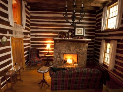 Valentines weekend-Open the Door to Glowing Logs Cabin, Step Into Another World.