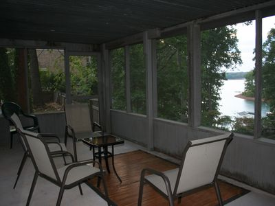 Screened Porch w/ Lake View off the Downstairs Family Rm/BR!