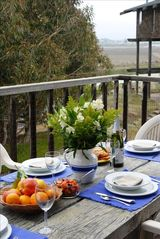 Monterey house photo - Breakfast on the deck off the kitchen