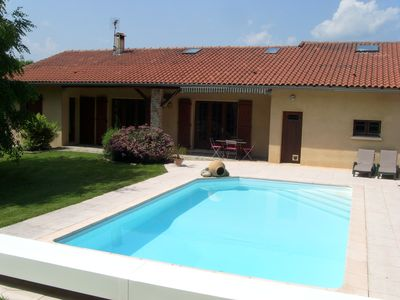 quiet house with private heated pool