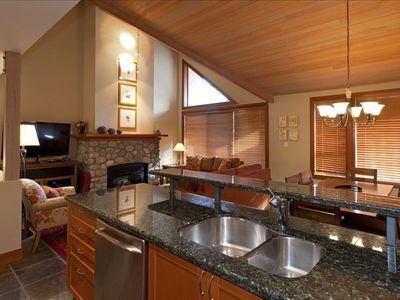 Large spacious living area with unbeatable views for the mountains and slopes!